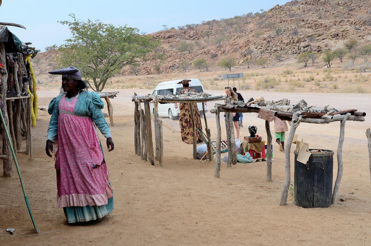 Herrero Village and craft shop Namib Desert 1