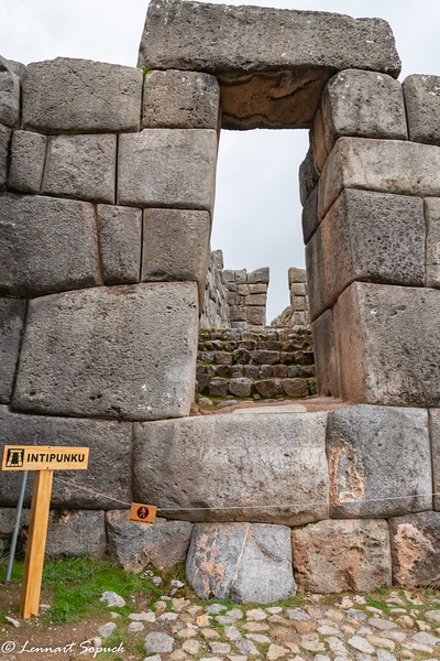 Main entrance Sacsayhuaman Ruins Cusco