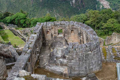 Machu Picchu Temple of the Sun with astronomical markers