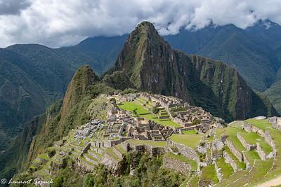Machu Picchu looking toward Huayna Picchu the tallest peak