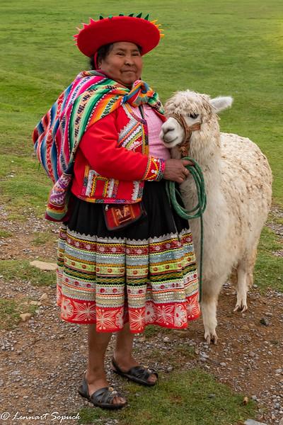 Authentic Inca clothing and Alpaca