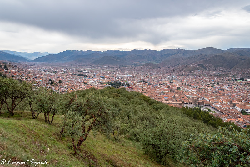 View of Cusco  valley (former Inca capital)