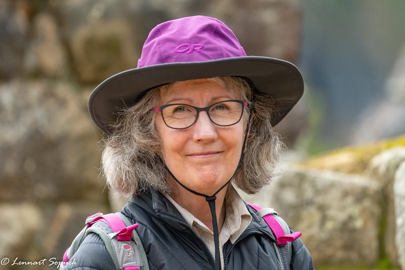 Diane at Machu Picchu