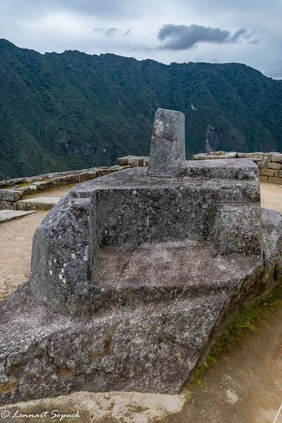 Machu Picchu sun dial