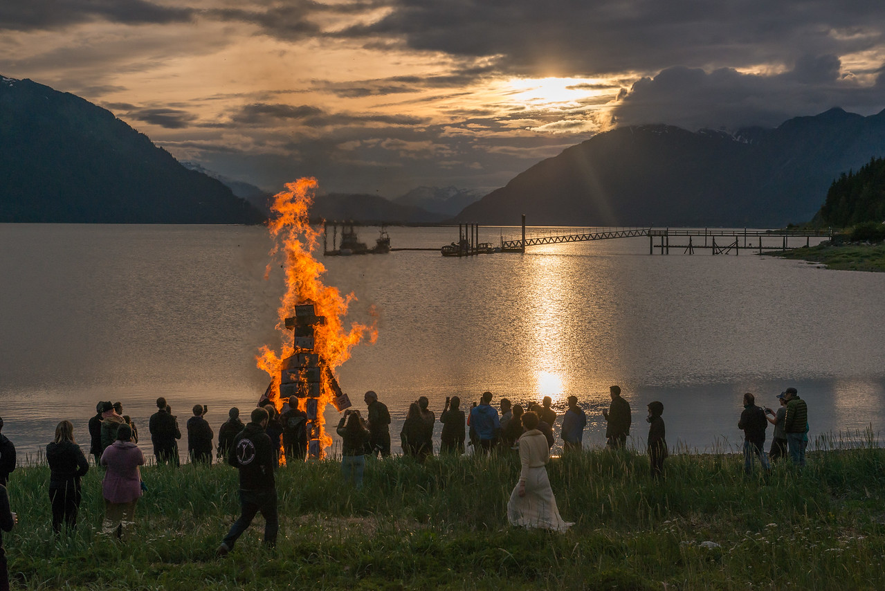Burning man comes to Haines