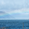Rainbow over Pyramid Island; Chilkat Inlet, Haines, AK