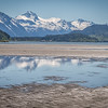 Glorious days of summer in Haines, Alaska, on the flats of the Chilkat River, looking south to the Coastal Range.