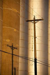 Powerlines Pole & Shadow Winona MN_6960