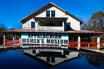 Future Home of the Appalachian Women's Museum Reflected in My Sunroof Dillsboro NC_7784