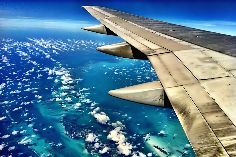 "03-18-2012: ""Somewhere over the Caribbean"" ... no idea where we were, I only know it was beautiful!"