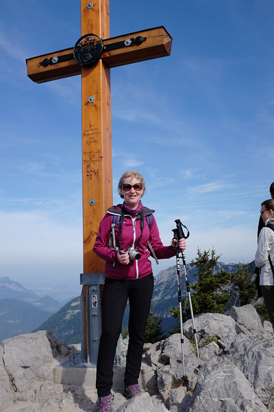 Jane at the summit of Jenner