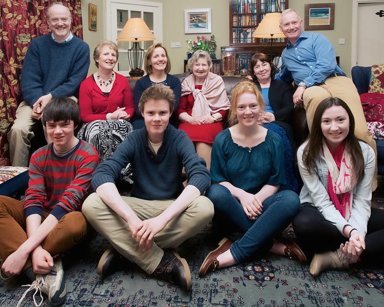 Family Group Photo - Mum's birthday 2014