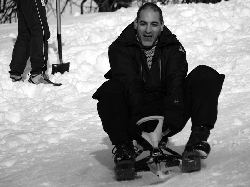 The mini sledge