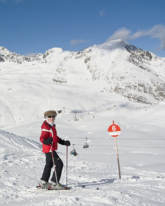 Skiing in Kühtai