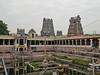 Temple tank and gopurams