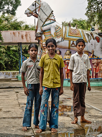 Children in village temple