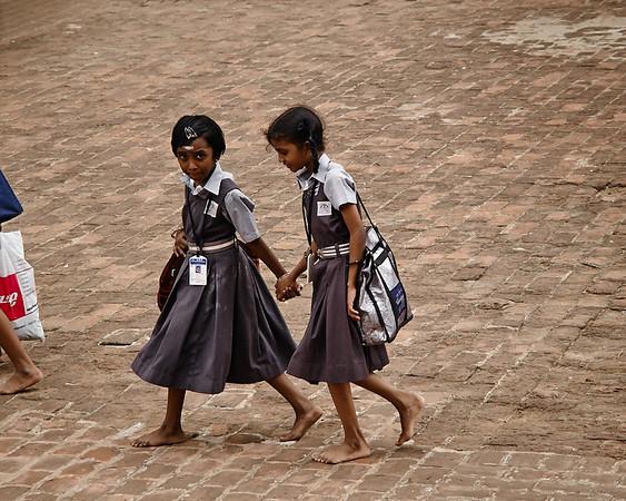 School girls in the Temple