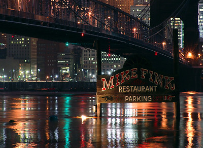 Mike Fink restaurant  2005 Flood