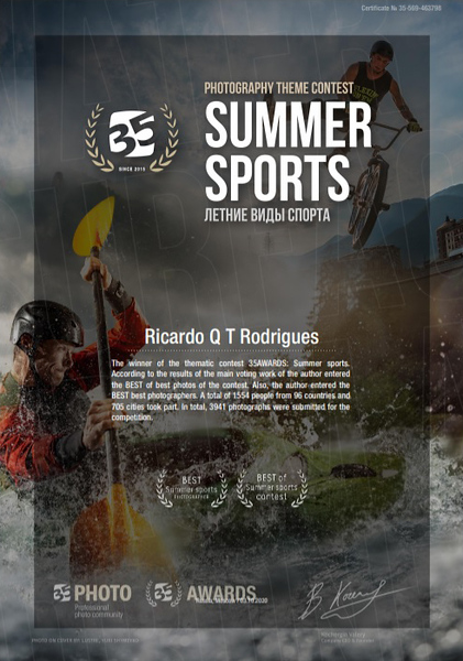 35 Awards Summer Sports contest  2020