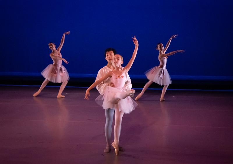 Chloe Romanow, Jolie MacDonald, front couple is Charlotte Hall and Asahi Hagihara, Salon de Ballet, Choreography by Charles Askegard