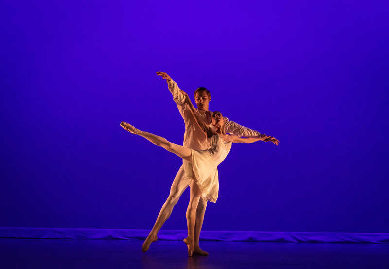"""Isabel Borges and Cameron Catazaro Hayward, """"From A to M"""" choreographed by Alan Hineline, Ballet Academy East"""