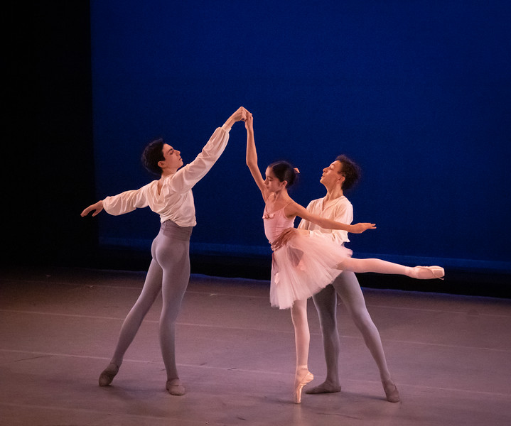 Sky Crabtree, Madeleine Collins, Enzo Castilho, Salon de Ballet, Choreography by Charles Askegard