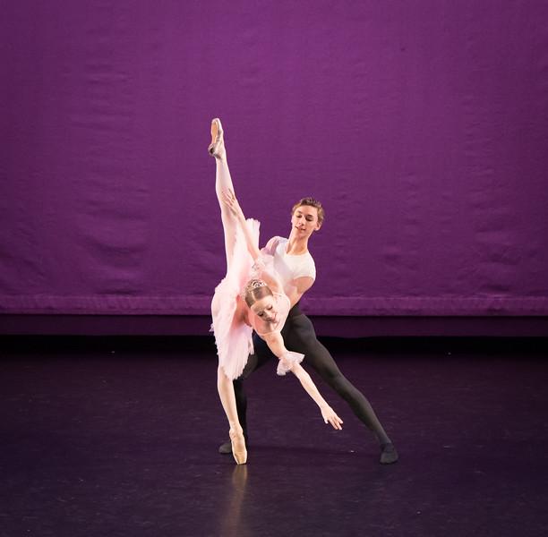 Elisabeth Beyer and Charlie Clinton, Nutcracker Pas de Deux, Ellison Ballet, December 15, 2017