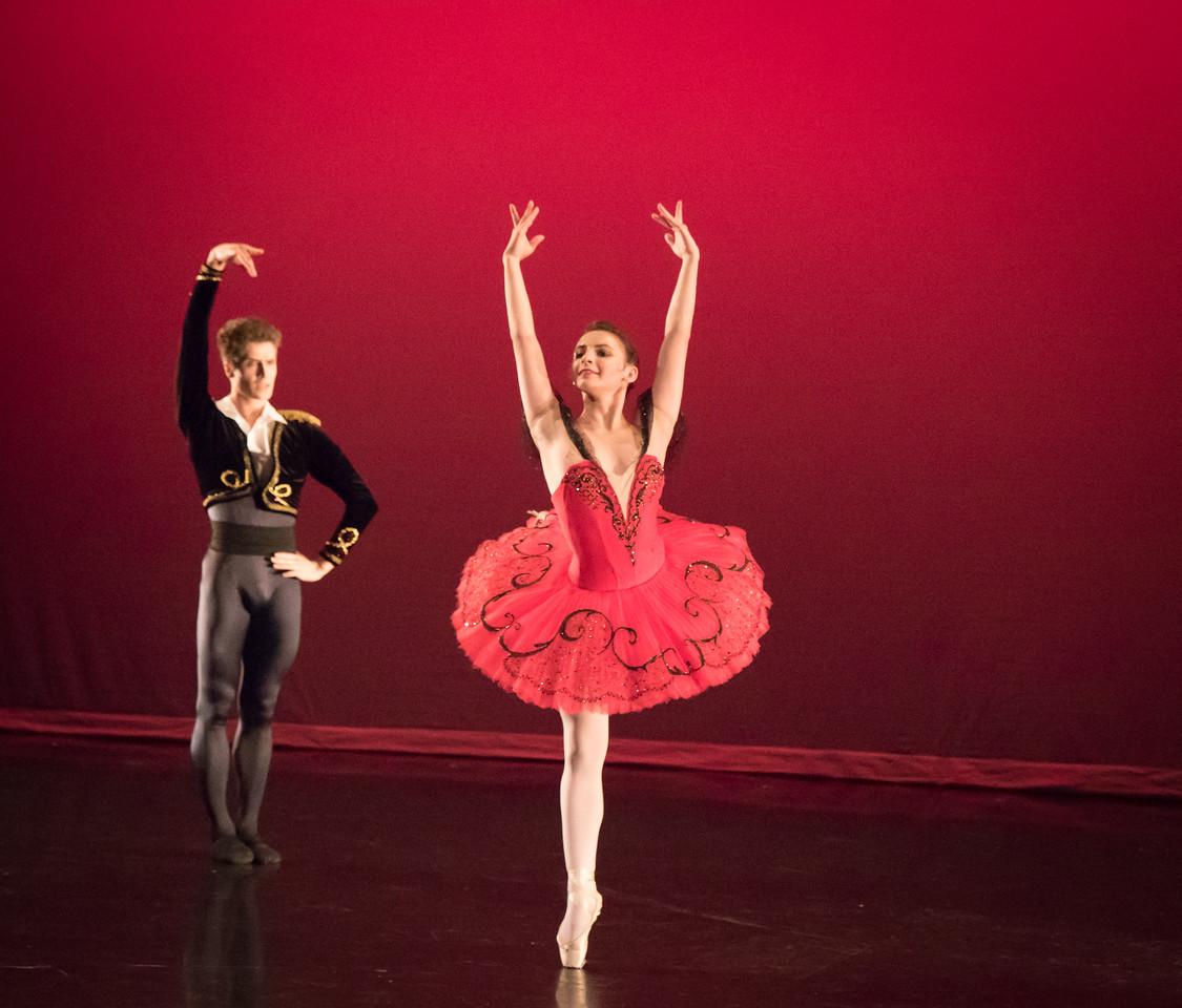 Juliette Bosco and August Atahu Generalli, Don Quixote, Ellison Ballet, May 20, 2016