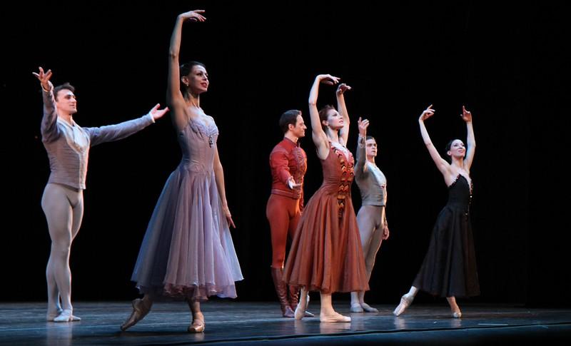 Filipp Stepin, Anastasia Matvienko, Yevgeny Ivanchenko, Yekaterina Kondaurova, Yuri Smekalov, Vitoria Tereshkina, Mariinsky Ballet, In the Night, January 25, 2015