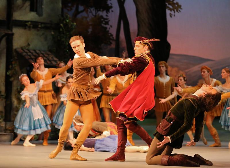 Leonid Sarafanov, Roman Petukhov, and Vladimir Tsal,  Mikhailovsky Ballet, Giselle, November 11, 2014