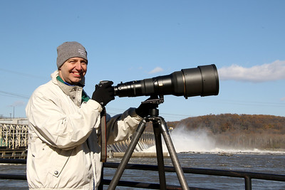"At Conowingo Dam with my Nikon and ""Cannon"""