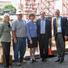 September 2009 - Board of Overseers tour construction site: Elizabeth Warshawer, John Neidermeyer (Intech), John Mangan.