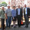 September 2009 - Board of Overseers tour construction site: Elizabeth Warshawer, John Neidermeyer (Intech), John Mangan.