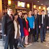 Post-concert reception at Church; Corbin Stair, Catherine Chen, Sarah Boxmeyer, Di Wu, Katerina Kramarchuk, Niles Watson and Slavko Popovic, March 16, 2014.
