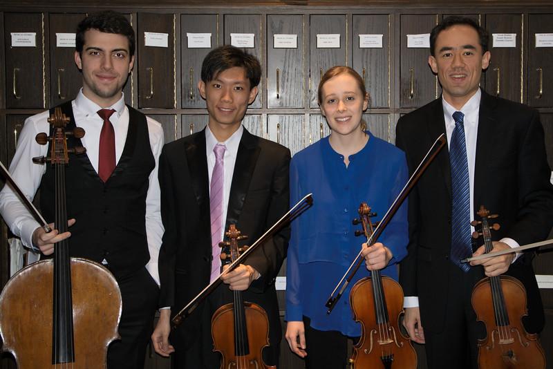 Timotheus Petrin, , En-Chi Cheng, Grace Clifford, Brandon Garbot<br /> Beethoven  Opus 18, No. 1