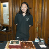Jared - and what's left of the Beethoven cake following the 1:30 p.m. recital