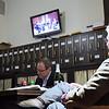 Jonathan Coopersmith and Tom Oltrazewski <br /> Beethoven Opus 18, No. 5 on the monitor