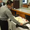 Dung Tran cuts his cake - November 22, 2013