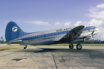 Airlantic Transport Curtiss C-46F-1-CU Commando N74177 (msn 22596) SJU (Bruce Drum). Image: 105418.