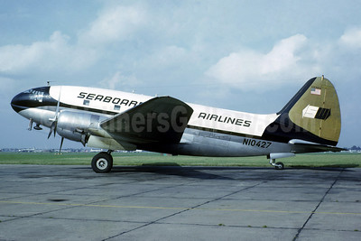 Seaboard World Airlines Curtiss C-46A-50-CU Commando N10427 (msn 30532) LHR (Christian Volpati Collection). Image: 937865.