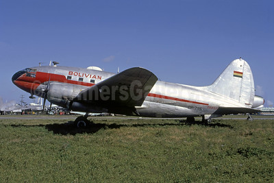 Bolivian Airways - TABSA Curtiss C-46F-1-CU Commando CP-795 (msn 22490) MIA (Bruce Drum). Image: 105439.