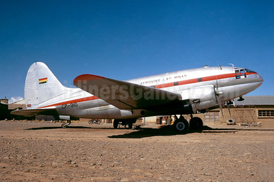 Aerovias Las Minas Curtiss C-46D-10-CU Commando CP-910 (msn 33234) LPB (Jacques Guillem Collection). Image: 946432.
