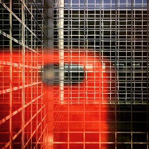 Reflections on a terminal building at the Frankfurt airport | Frankfurt - Germany | August 2016