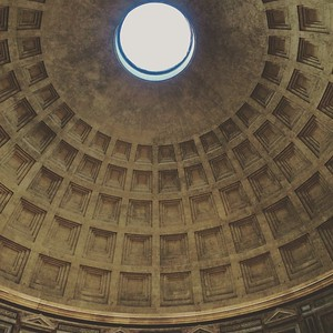 The perfect architectural structural of the dome of the Pantheon | Rome - Italy | December 2015