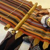 Traditional cotton weaving. Note the detailed pattern on the lower right.