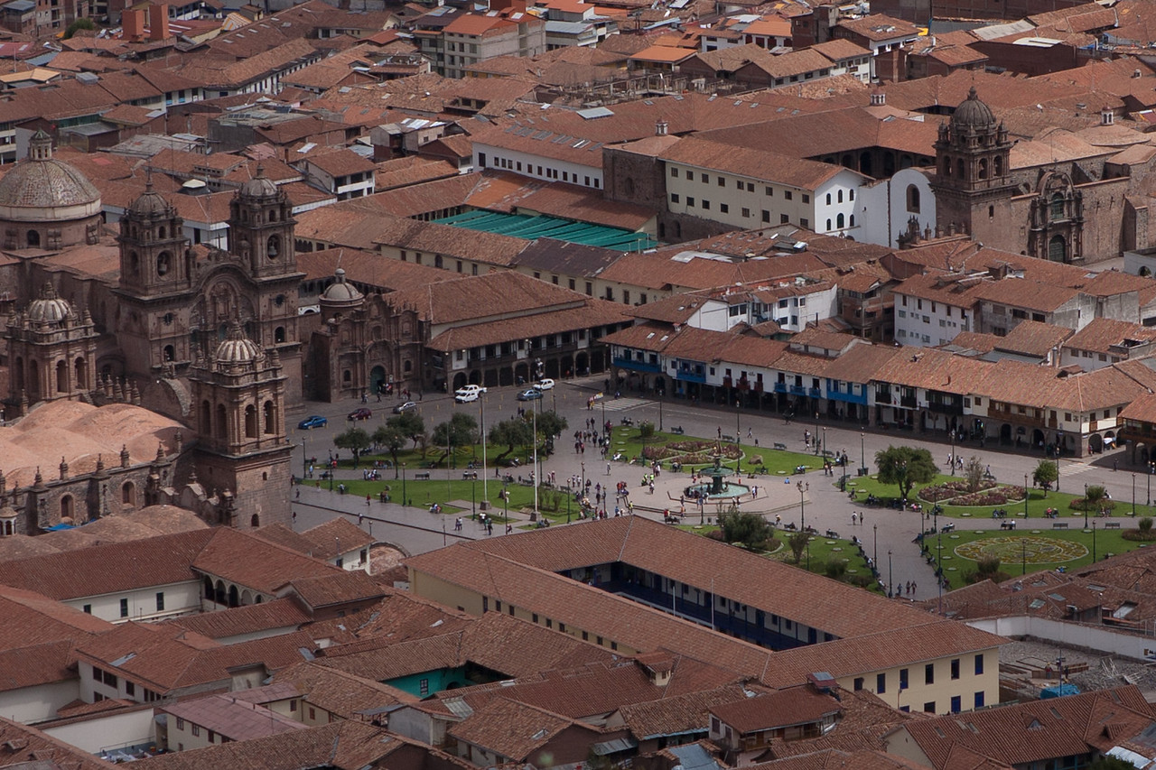 View of Plaza de Armas, Cusco, Peru