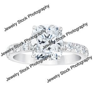 3ct Cushion Cut Diamond Ring Standing
