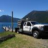 The Cushman fish facilities team prepares to release the sockeye into Lake Cushman.
