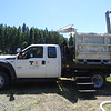 The Cushman fish facilities fish transport truck.