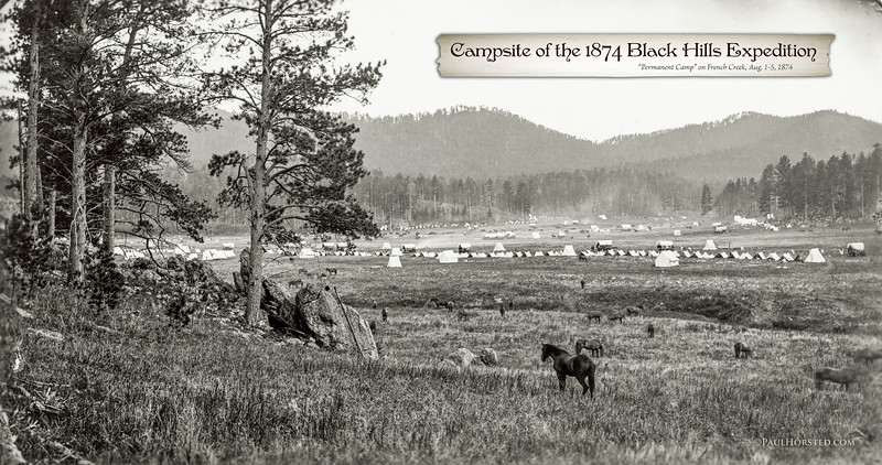 Camp of the 1874 Black Hills Expedition, Aug. 1-5, 1874